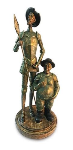 figura quijote y sancho panza color verde azufre