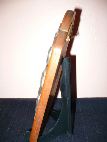 figura religiosa madera y metal san cayetano para colgar