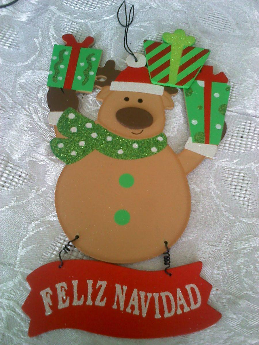 Figura rodolfo el reno en mdf aprox 28cm decoracion for Articulos de decoracion para navidad