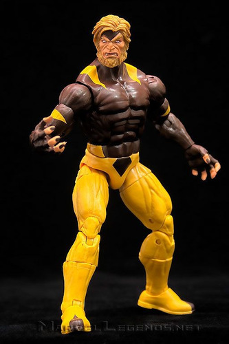 figura sabretooth puck series wolverine - marvel legends