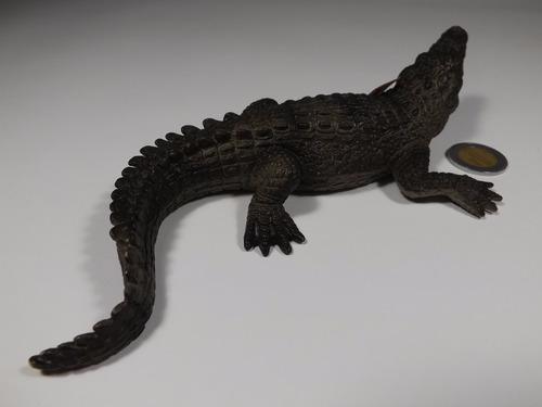 figura schleich cocodrilo, verde, pisapapeles