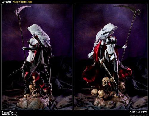 figura sideshow lady death premium format 1/4 55 cm