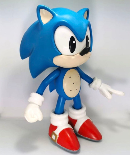 figura sonic erizo the hedgehog azul plastico unleashed 29cm