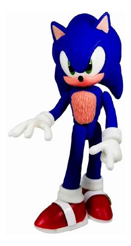 figura sonic the hedgehog azul juguete articulado boom 24cm