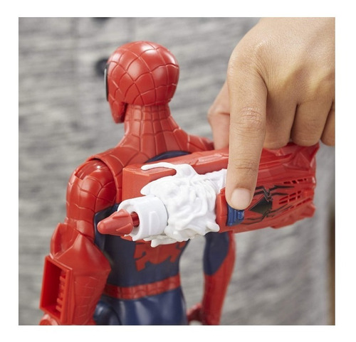figura spider-man marvel titan hero power fx