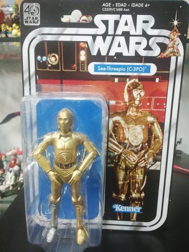 figura star wars c-3po 40th  anniversary kenner hasbro