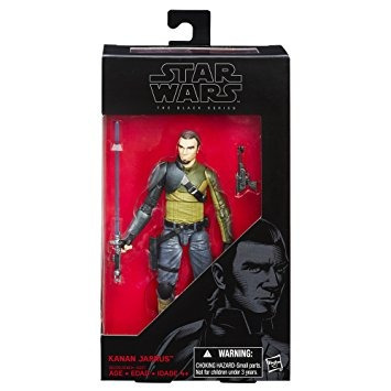 figura star wars rebeldes negro serie 6 pulgadas kanan jarr