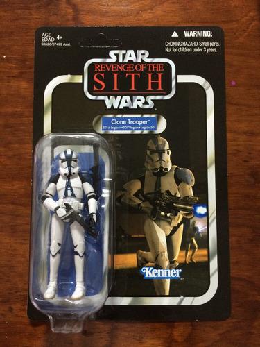 figura star wars vintage clone trooper legión 501
