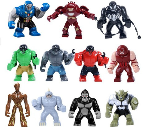 figura super heroes tamaño 85milimetros hulk-venom-groot