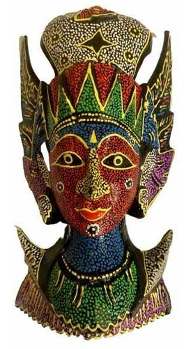 figura tailandesa de madera traída de bangkok
