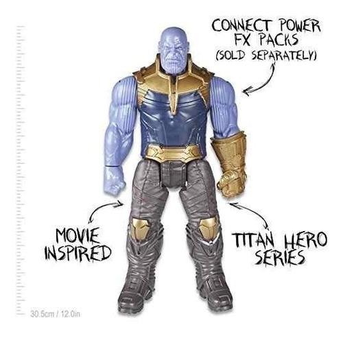 figura thanos 30cm marvel infinity war titan powerfx hero