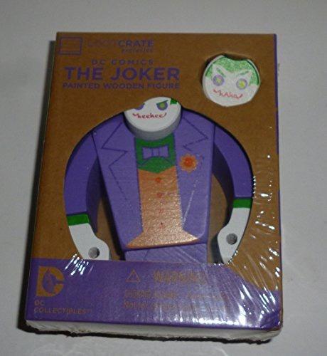 figura the joker painted wooden dc comics lootcrate
