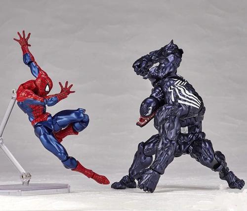 figura venom spider man super héroe marvel 18cm articulado