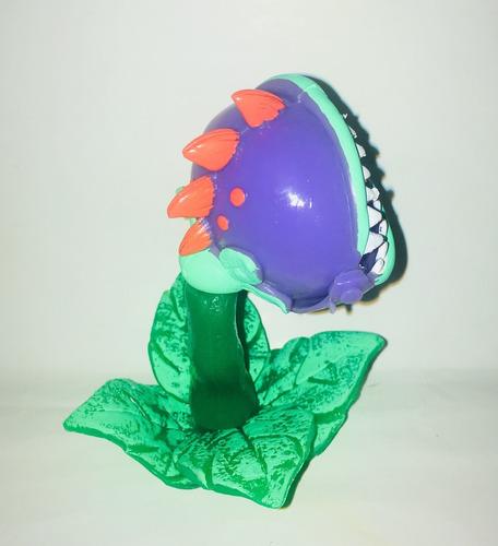 figura zombie vs plantas plastico 10 cm planta carnivora