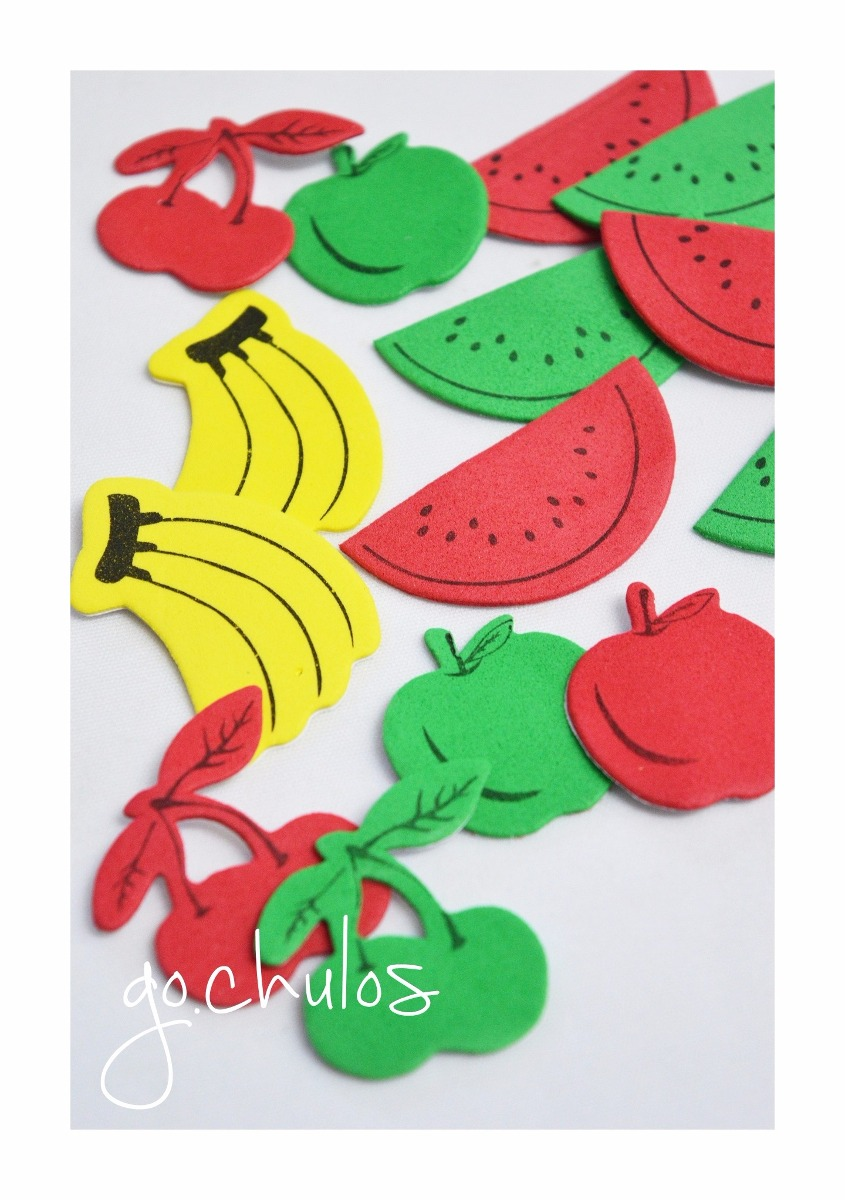 88924594d30 figuras adhesivas en goma eva gato perro sandia kawaii apple. Cargando zoom.