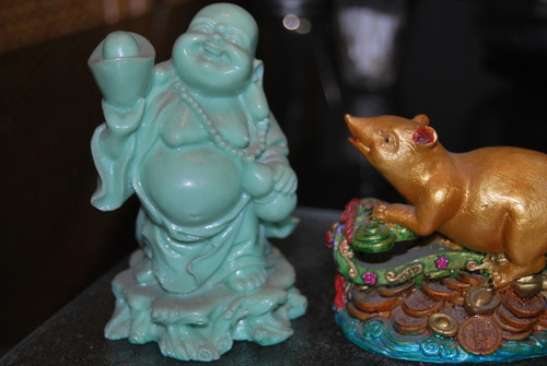 figuras adornos chino prosperidad fen shui suerte dolar amor