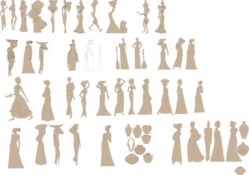 figuras africanas fibrofacil 45cm