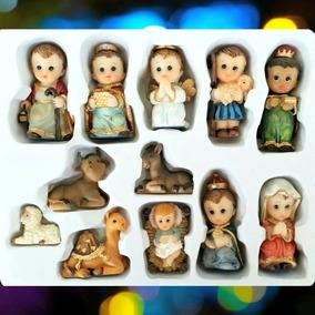 3f0c6666a73 Nacimiento Navideño Niño Jesus Petit 12 Piezas +envío Gratis
