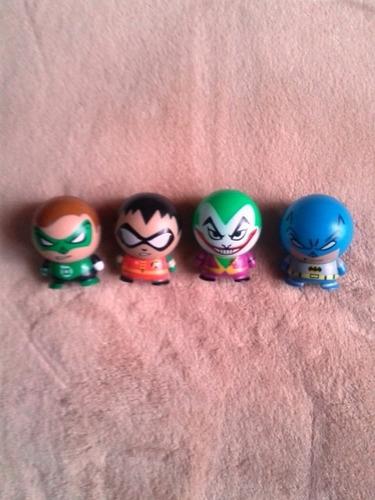 figuras cabezones dc  batman, robin, guason joker, linterna