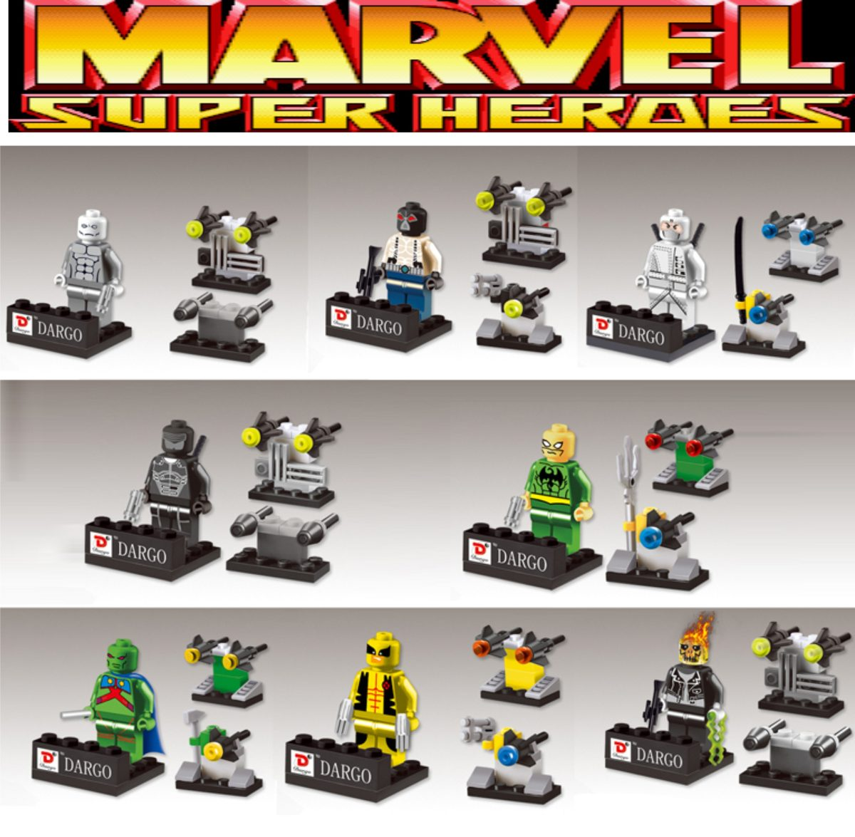 figuras compatibles con lego de marvel superheroes dargo en mercado libre. Black Bedroom Furniture Sets. Home Design Ideas