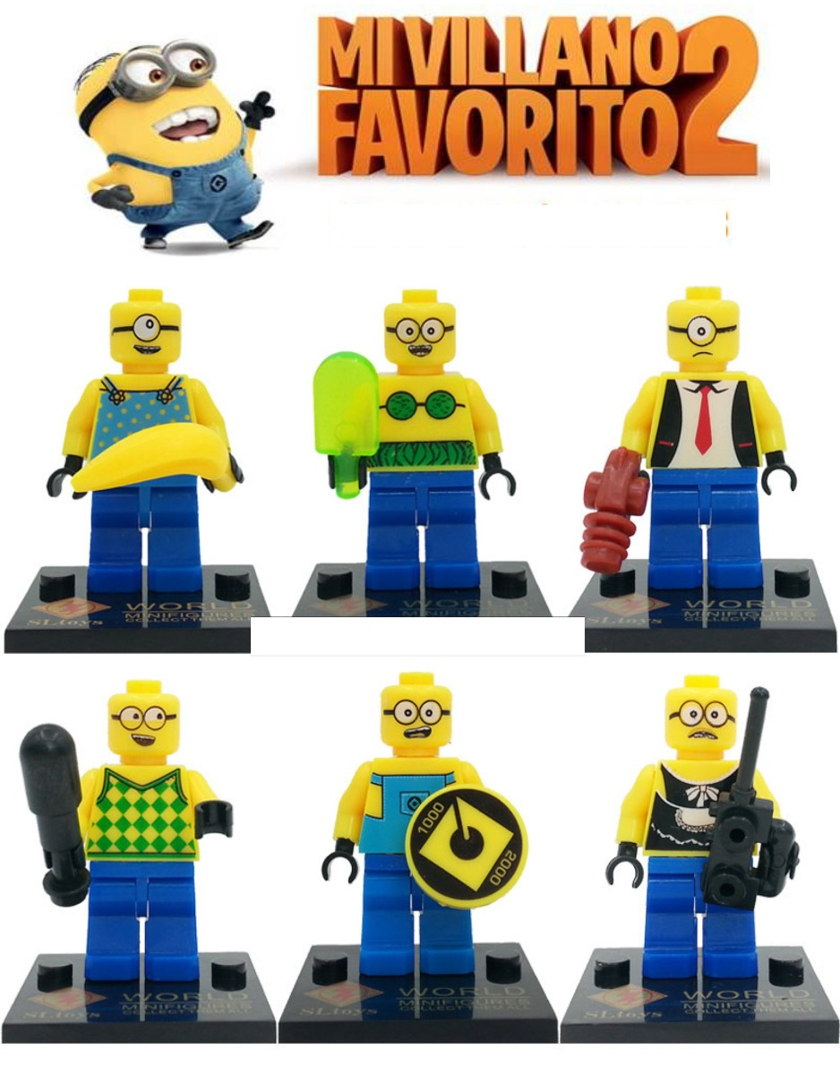 figuras compatibles con lego de mi villano favorito minions en mercado libre. Black Bedroom Furniture Sets. Home Design Ideas