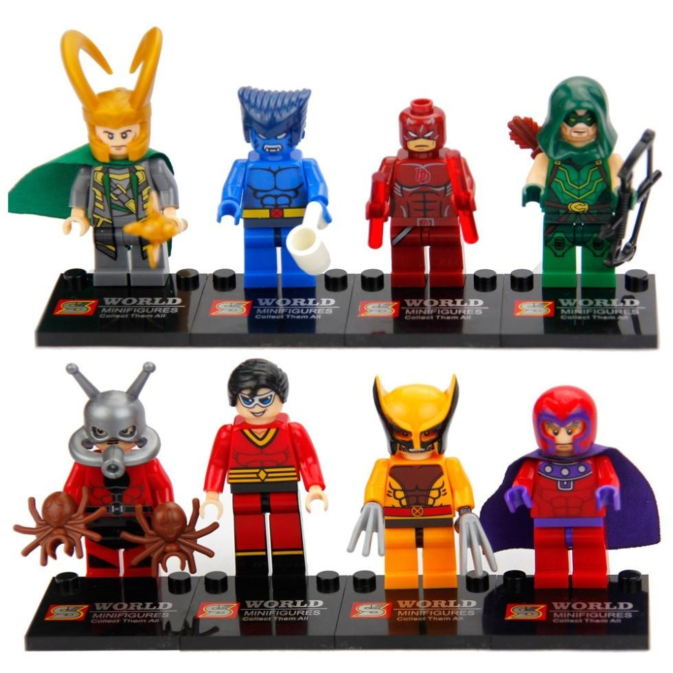 figuras compatibles con lego de superheroes antman beast en mercado libre. Black Bedroom Furniture Sets. Home Design Ideas
