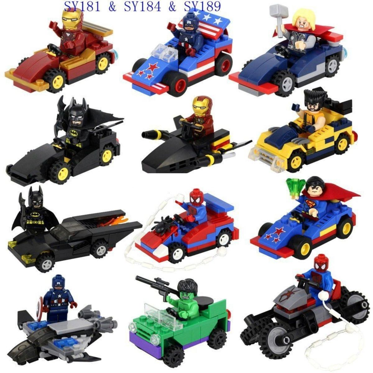 figuras compatibles con lego de superheroes y vehiculos en mercado libre. Black Bedroom Furniture Sets. Home Design Ideas
