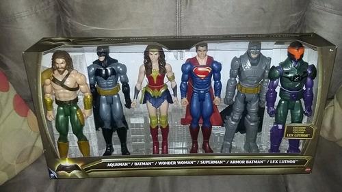 figuras de 12  (30 cms) batman superman mujer aquaman lex