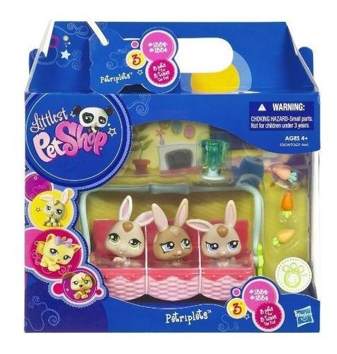 figuras de acción,juguete littlest pet shop tríos mascot..