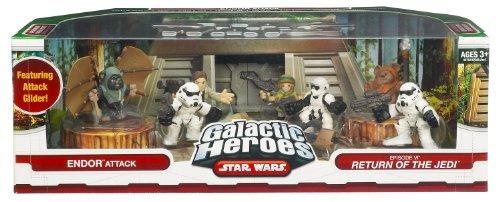 figuras de acciónstar wars galactic heroes cine escena en..