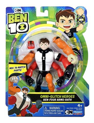 figuras de ação mix - ben 10 quatro braços rath - original