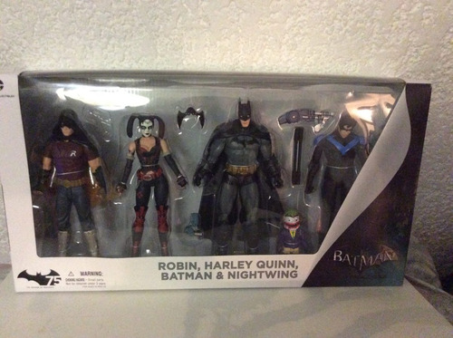 figuras de batman arkham city  robin harley nightwiing