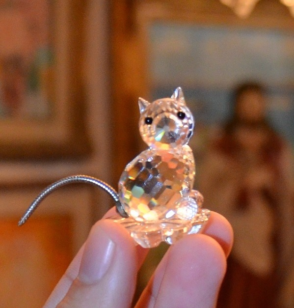 Figuras de cristal swarovski elefante y gato bs 110 - Figuras de cristal swarovski ...