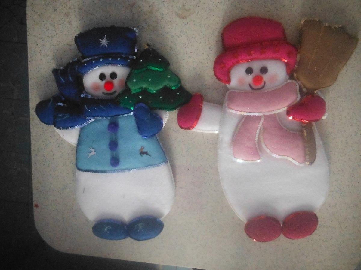 Figuras de fieltro navide as en mercado libre for Figuras de nieve navidenas