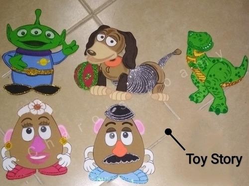 figuras de foamy toy story 4 fomi 12 piezas gde 1m + 50 dulc