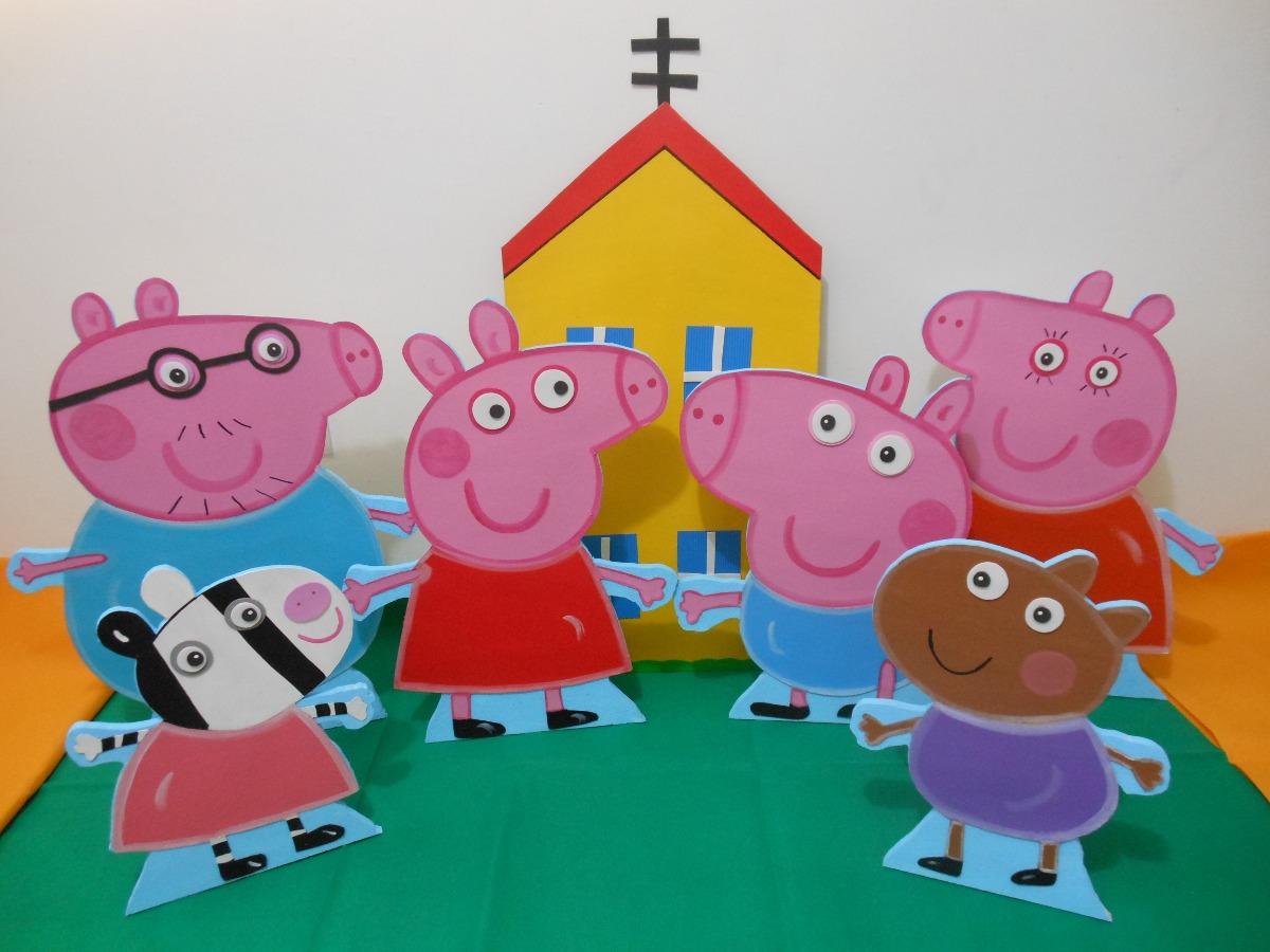 Figuras de peppa pig anime y foami decorar fiestas bs en mercado libre - Figuras para decorar ...