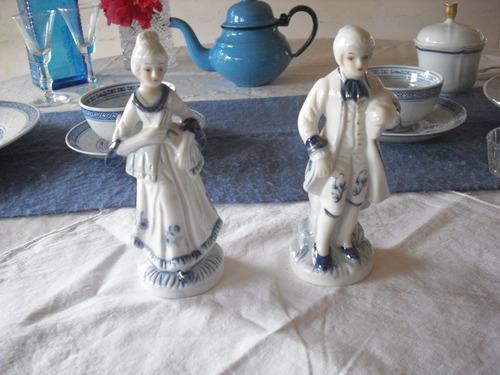 figuras de porcelana, pareja.