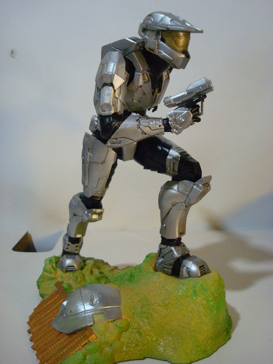 Aparador Acrilico Sp ~ Figuras De Resina Personajes Halo $ 700 00 en Mercado Libre