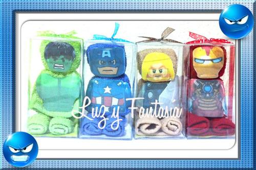 figuras de toalla facial personajes para recuerdos con cajas