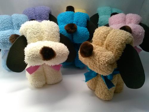 figuras de toalla y 1 jabón de glicerina un recuerdo útil