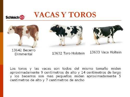 figuras de  vaca  toro de coleccion  niños/adultos schleich