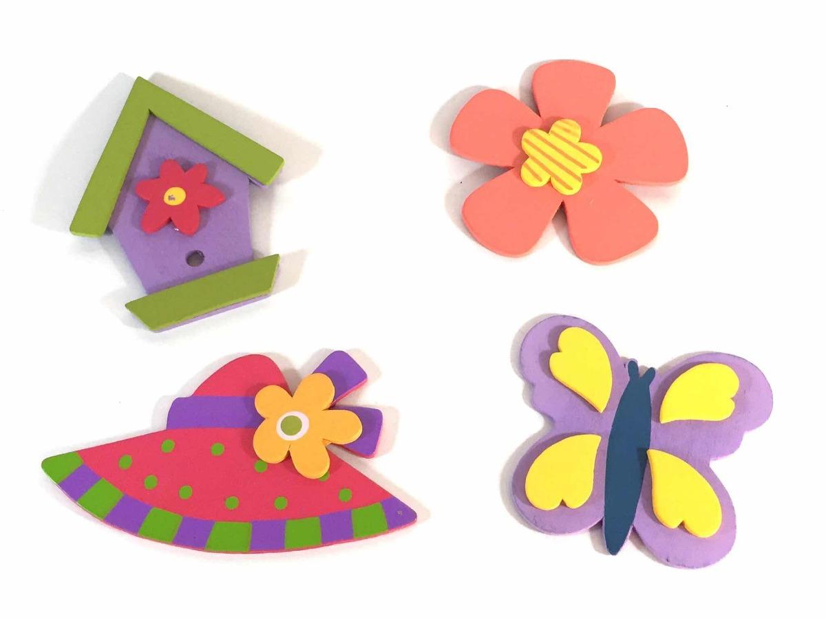 Figuras Decorativas Infantiles De Madera Flores Bs 600 00 En