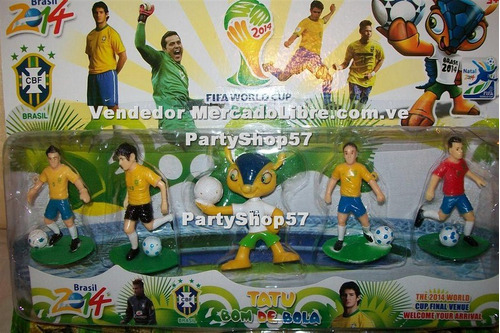 figuras del mundial futbol brazil  2014 cotillon torta