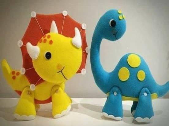 Figuras dinosaurios decorativos en lency o fieltro 5 - Puzzles decorativos ...