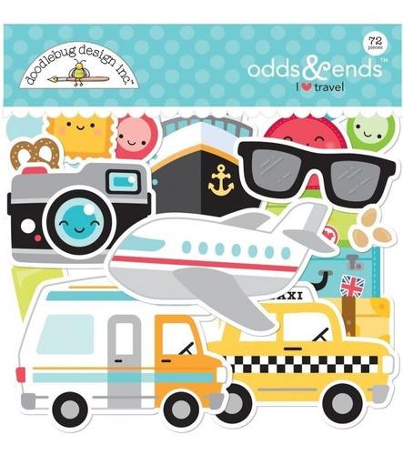 figuras doodlebug db scrapbook odds & ends i travel