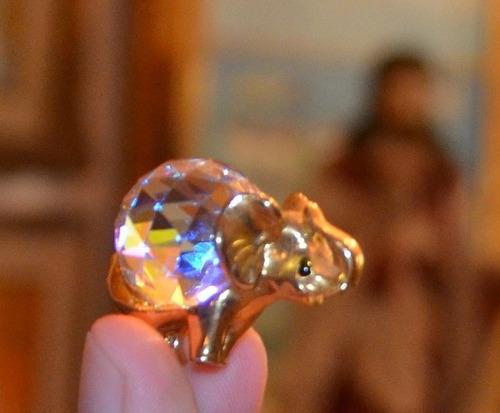 figuras en cristal swarovski original pollito y elefante.