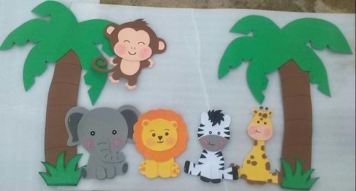 figuras en foami animales de la selva o safari
