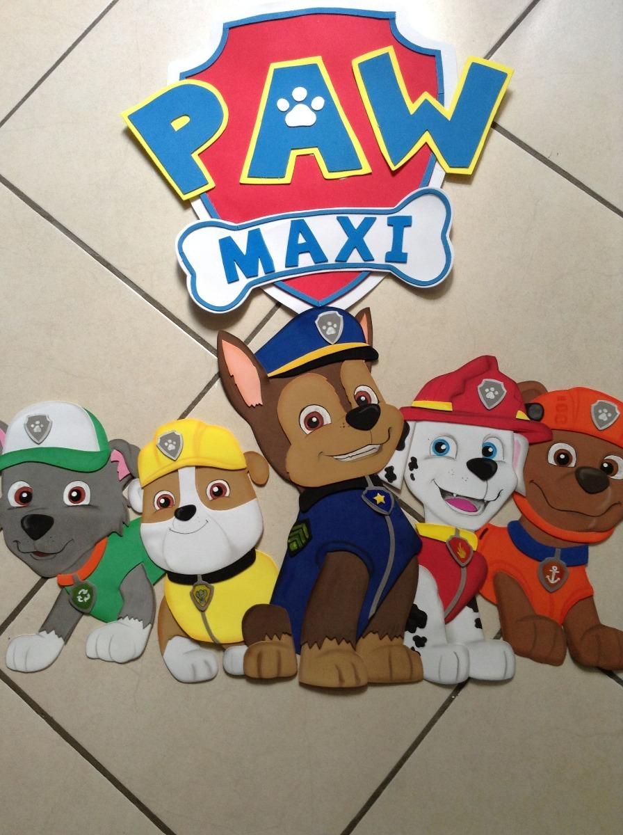 Figuras En Foami Paw Patrol Decoración Infantil