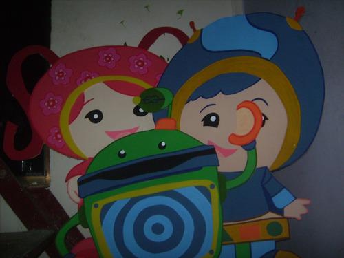 figuras en foamy foami personajes  infantiles