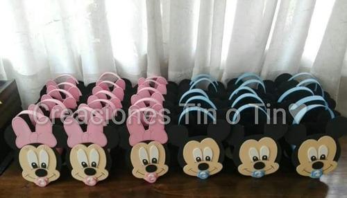 figuras en goma eva de mickey y sus amigos bebes